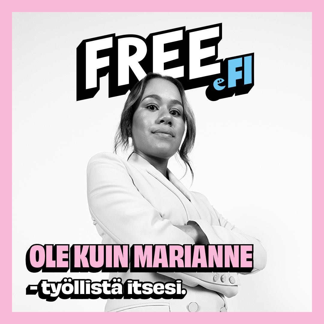 Ole kuin Marianne - työllistä itsesi.