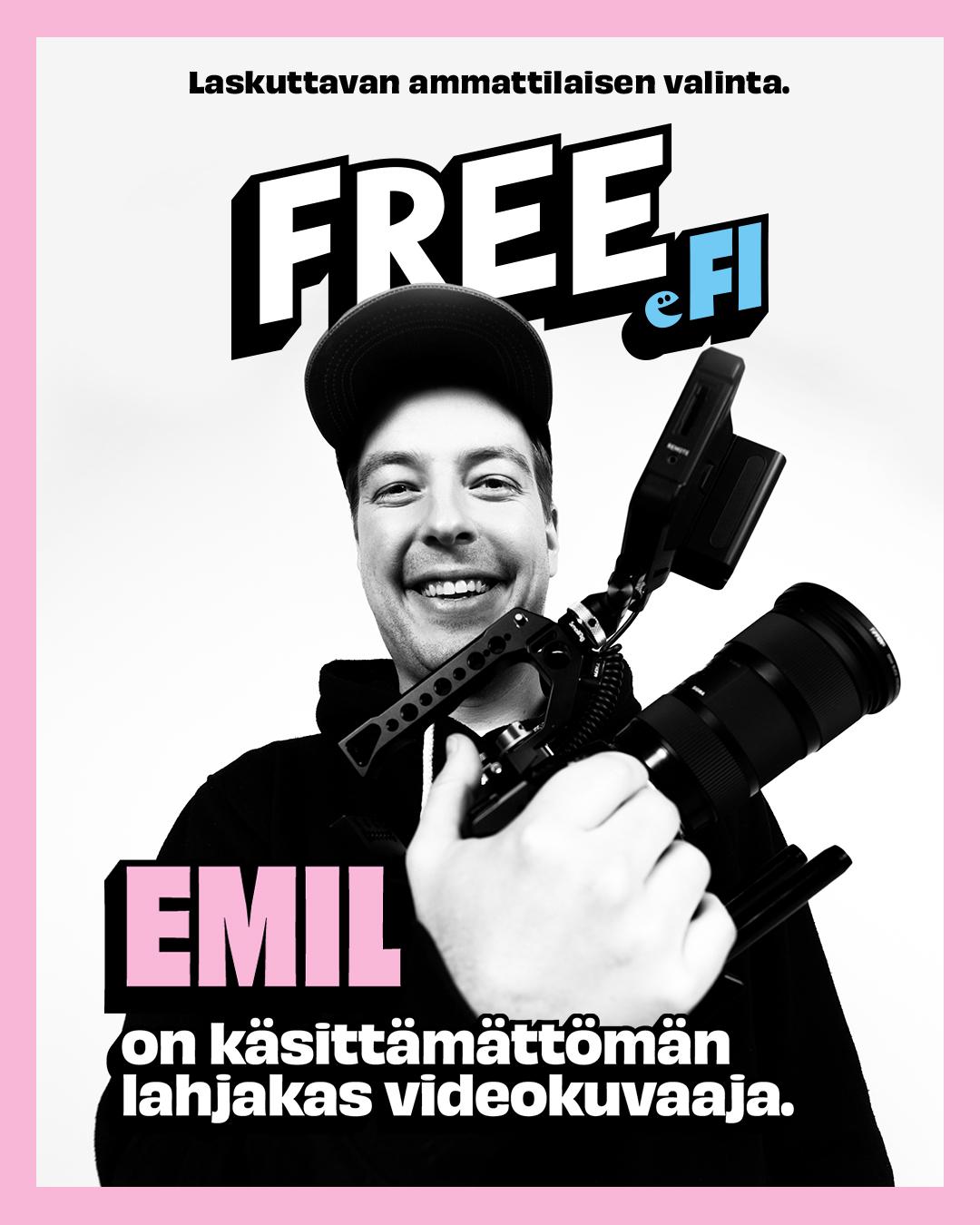 Emil on käsittämättömän lahjakas videokuvaaja.